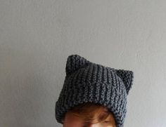 This knit cat ear hat is perfect for cat lovers, both teens and adults,men and women. This kitty cat hat is so comfortable and fun to wear! I made