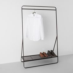 Open Closet Organization Garment Racks Ideas For 2019 Clothes Drying Racks, Hanging Clothes, Clothing Racks, Metal Clothes Rack, Clothing Displays, Metal Rack, Clothes Rail, Diy Shoe Rack, Wardrobe Organisation
