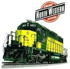 Chicago Northwestern (CNW) train - Google Search.  Distinctive color combo for the engine.