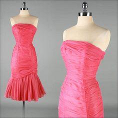 Vintage 1950s Dress  EMMA DOMB  chiffon by millstreetvintage, $325.00