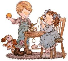 Sarah Kay Sarah Key, Holly Hobbie, Dibujos Cute, Vintage Drawing, Creative Pictures, Cute Images, Cute Illustration, Clipart, Cute Kids