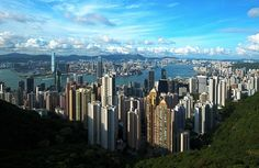A view from Victoria Peak, Hong Kong, looking north over Central, Victoria Harbour and Kowloon Discover Hong Kong, List Of Cities, Victoria Harbour, Hongkong, May Bay, High Rise Building, Most Visited, Countries Of The World, Amazing Destinations