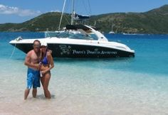 This could be you!  That's Black Beard on Sandy Spit in the British Virgin Islands!