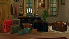 Luggage and Handbags at Josie Simblr • Sims 4 Updates