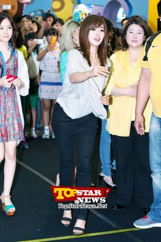 T-ARA's Eun Jung trying her best to make it in…Character Licensing fair 2012 surprise appearance [KPOP]
