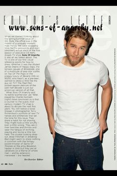 Charlie Hunnam in the last GQ Style Summer 2013<--- Umm yes please!!!