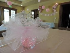 centerpiece baby shower! Princess!