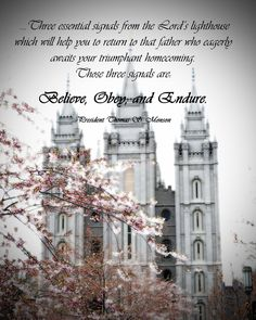 Quote from President Thomas S. Monson from the 2012 General Young Women Broadcast. What an amazing experience to be in his presence with my mom and daughter!