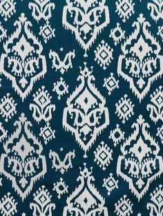 RAJ CANAL BLUE/SLUB #blue-turquoise #ikat #kilim #print-fabrics