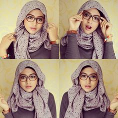 Wearing hijab with glasses isn't that tricky! Depending on the way you style your hijab and your face shape, there are many styles that could suit you. Islamic Fashion, Muslim Fashion, Modest Fashion, Hijab Fashion, Fashion Muslimah, Muslim Hijab, Muslim Dress, Muslim Girls, Muslim Women