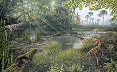 Jurassic Life. Artwork by Richard Bizley