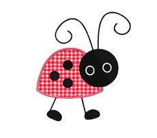 applique patterns free | Cute Ladybugs APPLIQUE Machine Embroidery Designs by SewWithLisaB