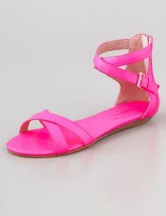 Rebecca Minkoff Neon Pink Sandal, $125     http://lcky.mg/Kacxwl