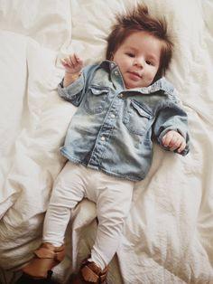 Sandra Fiorella: Jax Flight Ootd. Freshly picked. H&M. Baby moccasins. Baby boy outfit.