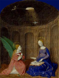 L'Annonciation Heures à l'usage d'Angers, enluminure du Maître de Jouvenel, Angers, vers 1450 (?) Paris, BnF, département des Manuscrits, NAL 3211, fol. 35.