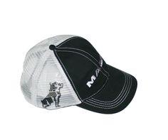 Mack Truck Merchandise - Mack Truck Hats - Mack Trucks Black & Grey Bulldog Snapback Mesh Cap - Mack Trucks Black & Grey Bulldog Snapback Mesh Caps