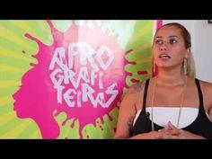 Grafiteira denuncia violência com arte na rua