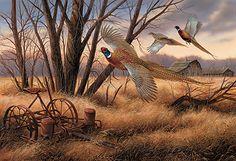 Prairie Wings-Pheasants Art Print by R. Millette | Wild Wings