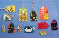 DIY Upcycled Gift Tags from Calendars or Greeting Cards