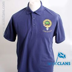 Irvine Clan Crest Embroidered Polo. Free worldwide shipping available
