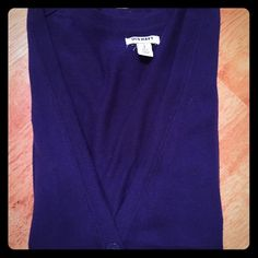 Purple cardigan Purple old navy boyfriend cardigan. Only worn a few times. Its a small petite, so the arms are shorter than in normal sizes. Great to wear with leggings or skinny jeans. Old Navy Sweaters Cardigans