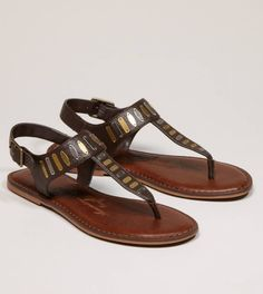 American Eagle Outfitters Embellished T-Strap Sandals