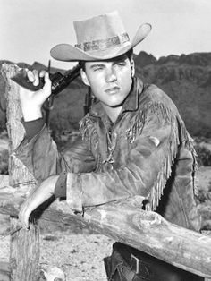 RIO BRAVO (1959) - Ricky Nelson as 'Colorado' on location in Old Tucson, Arizona - Directed by Howard Hawks - Warner Bros.