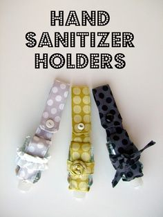 DIY Gifts To Sew For Friends - Hand Sanitizer Holders - Quick and Easy Sewing Projects and Free Patterns for Best Gift Ideas and Presents - Creative Step by Step Tutorials for Beginners - Cute Home Decor, Accessories, Kitchen Crafts and DIY Fashion Ideas Sewing Hacks, Sewing Tutorials, Sewing Crafts, Sewing Projects, Sewing Patterns, Sewing Ideas, Tutorial Sewing, Sewing Tips, Crafty Projects