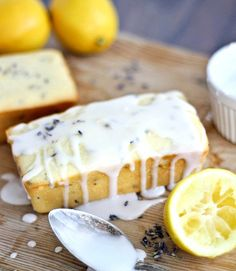 Chobani Greek yogurt, lemon zest, and dried lavender create a dessert loaf that's almost too pretty to eat.  Get the recipe at Bake Your Day.   - CountryLiving.com