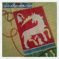 www.racaire.com - Working at an embroidered 14th century pouch for the 9th blog-birthday raffle .7 - just 4 days left! :D  Wooohoooo! Countdown! Just 4 days!   I am still working really hard at the embroidery for the embroidered 14th century pouch for the raffle! :D  …and I just finished the basic surface embroidery of the unicorn! Next step: outlines!!! :D  http://www.racaire.com/2014/04/01/embroidered-14th-century-pouch-for-the-9th-blog-birthday-raffle-7/