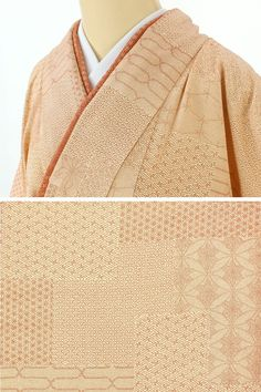 クリームベージュの地色に朱色の点描柄で江戸小紋のような柄です。 青海波や麻の葉、紗綾形など様々な柄が裂取りのように重なるように染められています。 八掛と重ね衿は朱色基調の同柄で別誂えのものがついています。 街着、おしゃれ着に素敵な一枚です。  <シチュエーション> 小紋着物ですので、カジュアルにお召し頂けるお着物です。 名古屋帯や半幅帯、おしゃれ袋帯などと合わせて、街着、ショッピング、ちょっとしたお出かけから普段着用などにお使い頂けます。  <風合> とても柔らかいしなやかな正絹生地です。     【楽天市場】小紋 江戸小紋風の裂取り 別誂え八掛 【中古】【リサイクル着物・リサイクルきもの・アンティーク着物・中古着物】:ビスコンティ&きもの忠右衛門