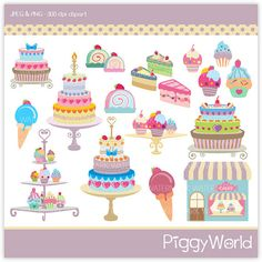 PW4 Chic Cake Shop  digital clipart  chic by littlefairyland, $4.00