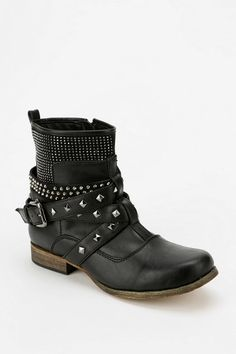 Wanted Ditmar Studded Moto Boot Urban outfitters