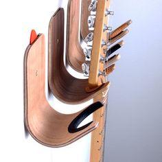 Plywood guitar/ukulele hook