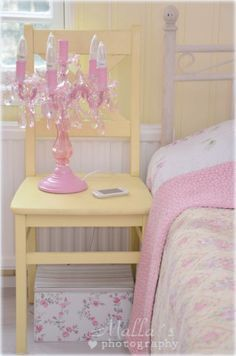 pink and yellow bedroom - Google Search