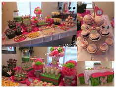 Custom Butterfly 1st Birthday Food  Kids Table - #party #events #stylist #lasvegas #noveldesigns