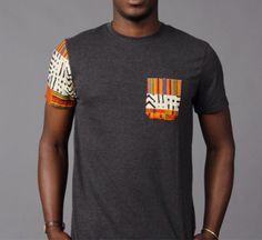 Camiseta t-shirt de SoTribal Ankara Kente por SoTribal en Etsy