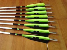 Traditional English longbow indoor created arrows