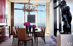 Manhattan Apartment by Carlos Aparicio : Architectural Digest I love the chandelier Architectural Digest, Design Your Dream House, House Design, Best Interior, Interior Design, Casual Dining Rooms, Art Deco Rugs, Manhattan Apartment, Image House