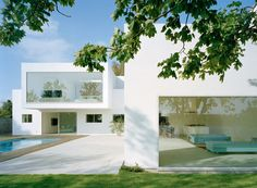 All-white house, with square, clean architectural lines _ Villa M2, Malmo, by Swedish architect Jonas Lindvall _