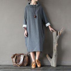 Irregular Loose Retro Dress Gown