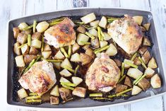 Need a new way to make baked chicken thighs? Here is a sheet pan recipe for you to try. Honey herb baked chicken thighs is a tasty dinner to make. Dinners To Make, Lunches And Dinners, Meals, Italian Roast, Breakfast Lunch Dinner, Chicken Thighs, Healthy Recipes, Healthy Foods, Baked Chicken