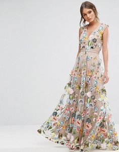 True Decadence | True Decadence Allover Embroidered Maxi Dress
