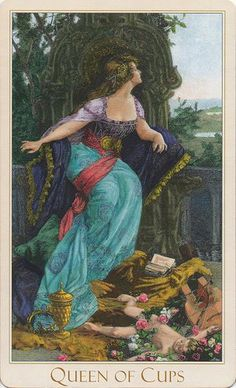My Most Favorite Card - The Queen of Cups. From my most favorite deck - The Victorian Romantic Tarot  http://www.victorianromantic.com/