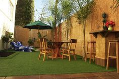 astroturf with tiki patio - Google Search