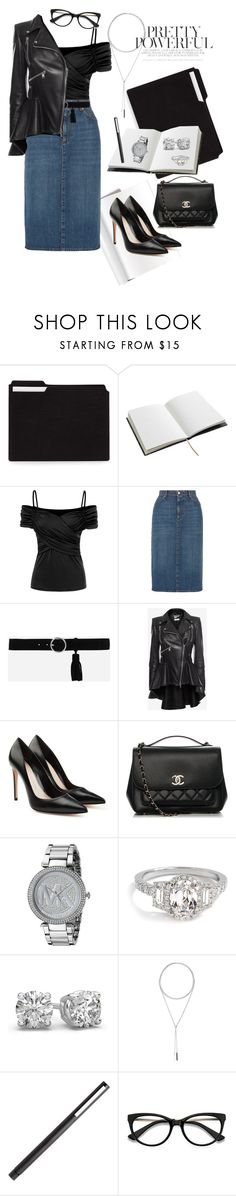 """Power Look - IV"" by mary-kay-de-jesus ❤ liked on Polyvore featuring House of Hackney, AlexaChung, CHARLES & KEITH, Alexander McQueen, Chanel, Michael Kors, W. Britt and EyeBuyDirect.com"