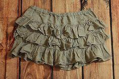 Hollister Gray Layered Ruffle Mini Skirt Juniors Size Medium