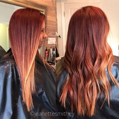 Balayage red/copper by Jeanette Smithey