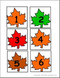 Calendar: Leaves (days) - Maple-leaf shapes hold numbers from as well as plus, minus, multiplication and equals signs. Great for making a fall calendar or for playing math games. Lesson Plans For Toddlers, Preschool Lesson Plans, Preschool Themes, Preschool Printables, Preschool Math, Kindergarten, Classroom Calendar, Kids Calendar, 2021 Calendar