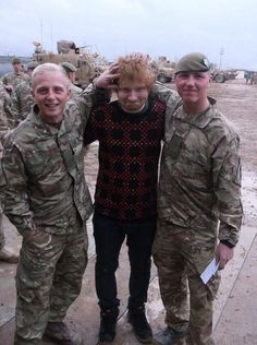 ''Not everyday someone like ed Sheeran rocks up in Afghanistan. Top bloke'' - a soldier about ed